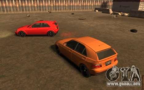 Karin Sultan Hatchback v2 para GTA 4 vista hacia atrás
