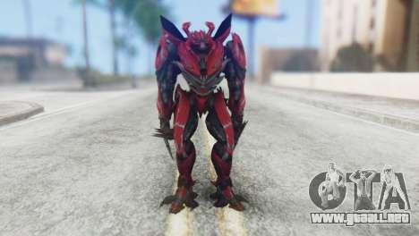 Dino Mirage Skin from Transformers para GTA San Andreas segunda pantalla