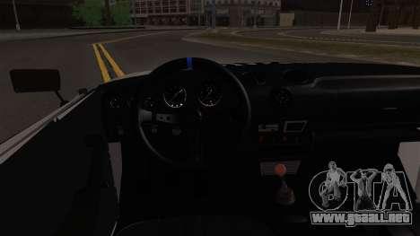 VAZ 2106 BC para visión interna GTA San Andreas
