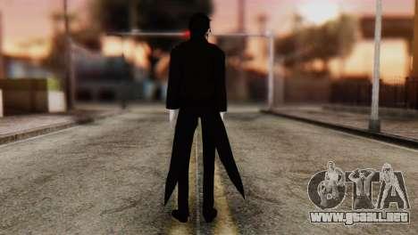 Sebastian Michaelis Kuroshitsuji para GTA San Andreas segunda pantalla