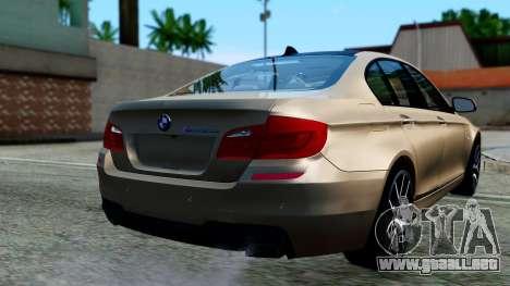 BMW M550d para GTA San Andreas left