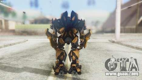 Bumblebee Skin from Transformers v2 para GTA San Andreas tercera pantalla