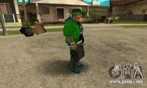 Groove St. Nigga Skin Second para GTA San Andreas sucesivamente de pantalla