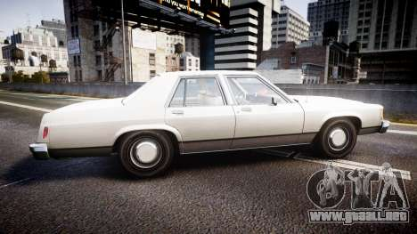 Ford LTD Crown Victoria 1987 Detective [ELS] v2 para GTA 4 left