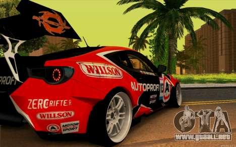 Toyota GT86 ZeroZver para GTA San Andreas left