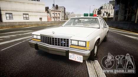 Ford LTD Crown Victoria 1987 Detective [ELS] para GTA 4
