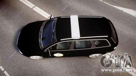 Audi S4 Avant Serbian Police [ELS] para GTA 4 visión correcta