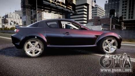Mazda RX-8 2006 v3.2 Pirelli tires para GTA 4 left
