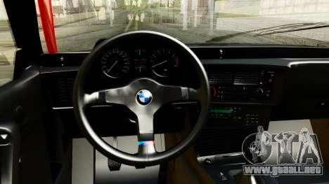 BMW M635CSi E24 1984 para GTA San Andreas vista hacia atrás
