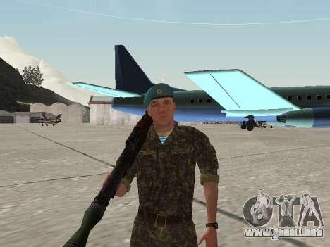 El aire de soldado de Ucrania para GTA San Andreas quinta pantalla