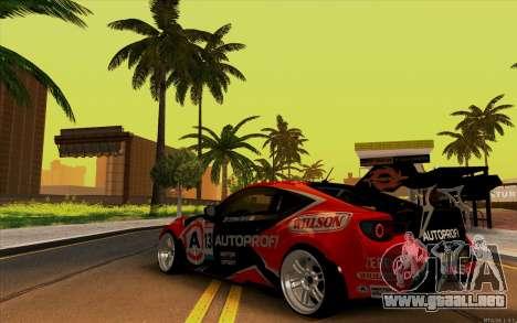 Toyota GT86 ZeroZver para la visión correcta GTA San Andreas