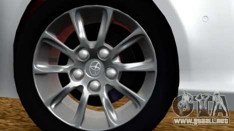 Toyota Mark X para GTA San Andreas vista posterior izquierda