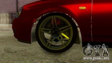 Lada Priora Sedan para GTA San Andreas vista posterior izquierda