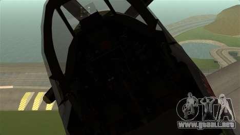 P-51D Mustang para la visión correcta GTA San Andreas