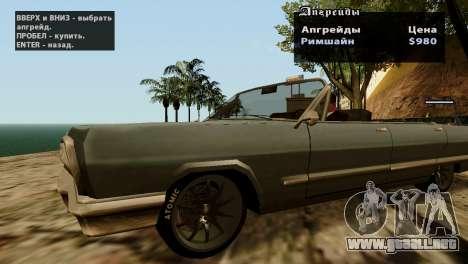 Ruedas de GTA 5 v2 para GTA San Andreas sexta pantalla