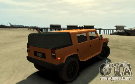 Mammoth Patriot Pickup v2 para GTA 4 Vista posterior izquierda