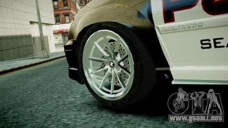 Subaru Impreza WRX STI Police para GTA 4 Vista posterior izquierda