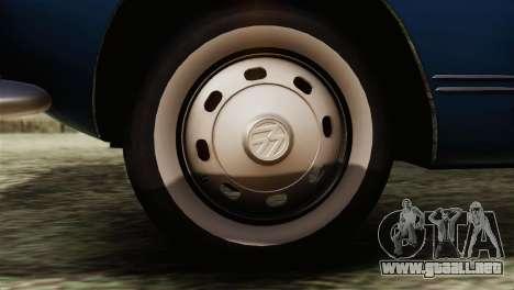 Volkswagen Karmann-Ghia Coupe (Typ 14) 1955 HQLM para GTA San Andreas vista posterior izquierda
