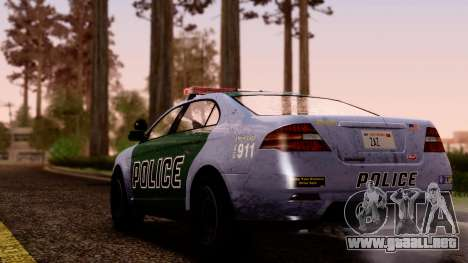 GTA 5 Vapid Police Interceptor v2 SA Style para GTA San Andreas left