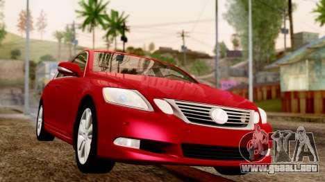 Lexus GS 350 2008 para la visión correcta GTA San Andreas