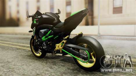 Kawasaki Z800 Modified para GTA San Andreas left