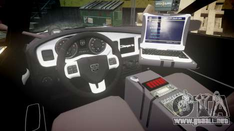 Dodge Charger Alderney Police para GTA 4 vista hacia atrás