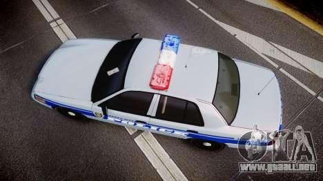 Ford Crown Victoria Liberty Police [ELS] para GTA 4 visión correcta