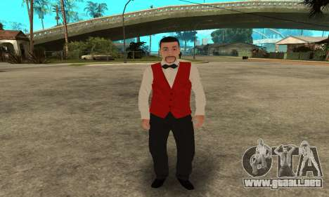 Casino Skin para GTA San Andreas tercera pantalla