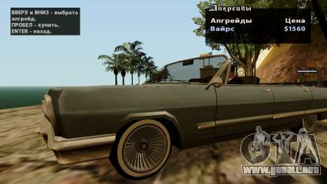 Ruedas de GTA 5 v2 para GTA San Andreas octavo de pantalla