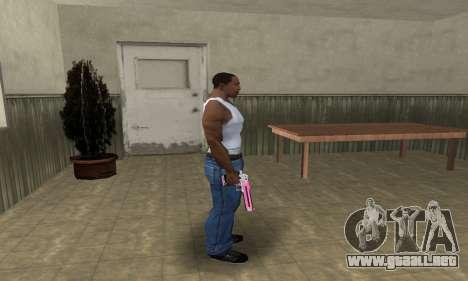 Pink Deagle para GTA San Andreas tercera pantalla