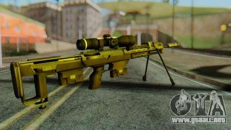 DSR50 Sniper Rifle para GTA San Andreas segunda pantalla