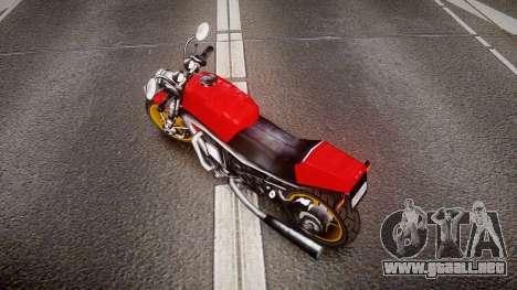 Streetfighter para GTA 4 Vista posterior izquierda