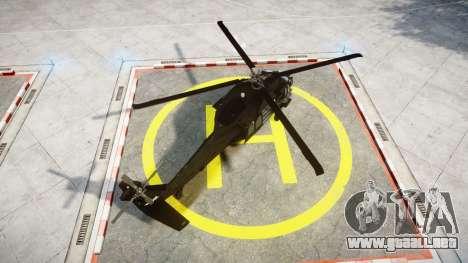 Sikorsky MH-60L Black Hawk [EPM] para GTA 4 Vista posterior izquierda