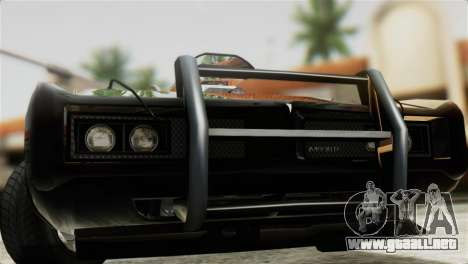 GTA 5 Imponte Dukes ODeath IVF para GTA San Andreas vista posterior izquierda