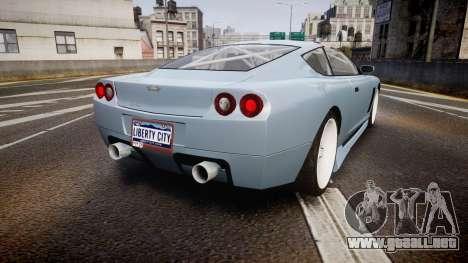 Dewbauchee Super GT Tuning para GTA 4 Vista posterior izquierda