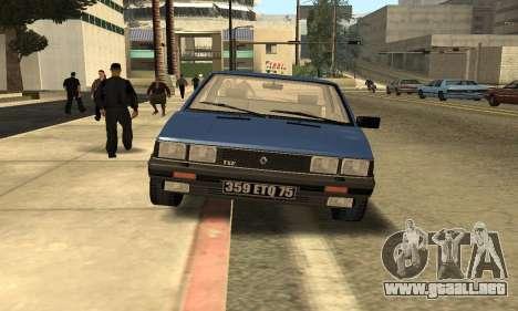 Renault 11 TXE Taxi para visión interna GTA San Andreas