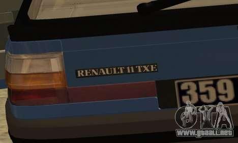 Renault 11 TXE Taxi para GTA San Andreas interior
