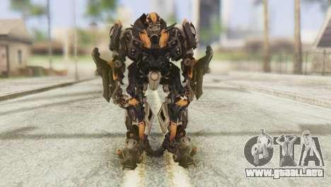 Bumblebee Skin from Transformers v1 para GTA San Andreas segunda pantalla