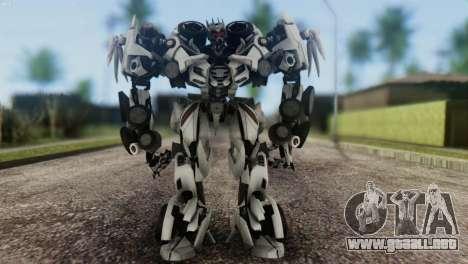 Soundwave Skin from Transformers para GTA San Andreas segunda pantalla