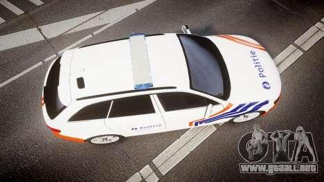 Audi S4 Avant Belgian Police [ELS] orange para GTA 4 visión correcta