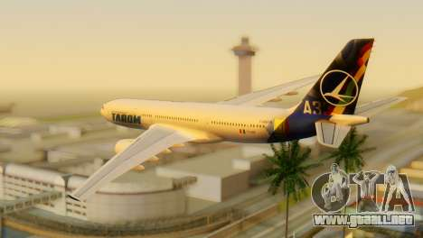 Airbus A330 TAROM Romania para GTA San Andreas left