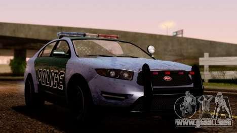 GTA 5 Vapid Police Interceptor v2 SA Style para GTA San Andreas vista hacia atrás