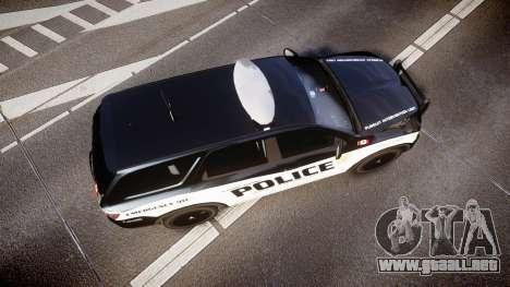 Dodge Durango Alderney Police para GTA 4 visión correcta