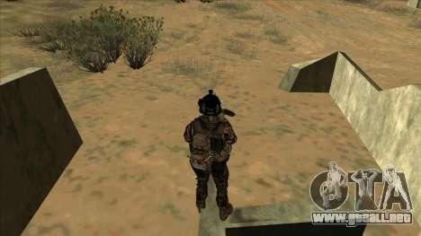 BF3 Soldier para GTA San Andreas sexta pantalla