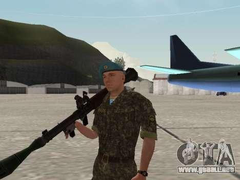 El aire de soldado de Ucrania para GTA San Andreas sexta pantalla