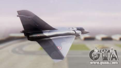 Dassault Mirage 4000 French Air Force para GTA San Andreas left