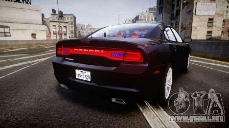 Dodge Charger SWAT Tactical Unit [ELS] rbl para GTA 4 Vista posterior izquierda