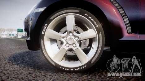 Mazda RX-8 2006 v3.2 Pirelli tires para GTA 4 vista hacia atrás