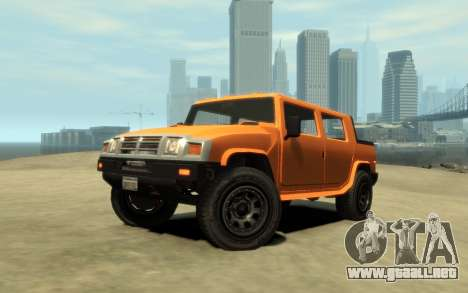 Mammoth Patriot Pickup v2 para GTA 4 visión correcta