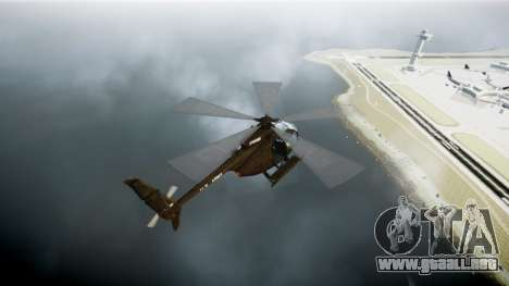 MH-6 Little Bird para GTA 4 Vista posterior izquierda